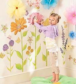 Set Of 42 Assorted Fairy Garden Hand Drawn Decorative Wall Sticksrs