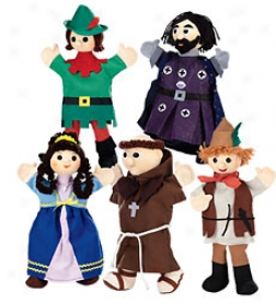 Set Of 5 Costumed Puppets Specific