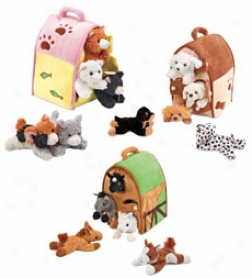 Set Of 5 On-the-go Animals And Portable Homesbuy 2 Or More At $24.98 Each