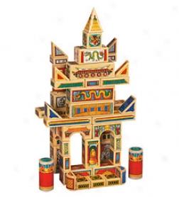 Set Of 50 Dragons And Pagodas Building Blocks