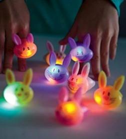 Set Of 8 Light-up Flashing Bumny Rings