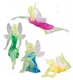 Set Of 8 Vinyl Glow-in-the-dark Fairies