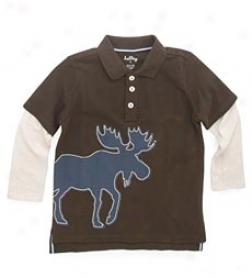 Sketch Moose 2-in-1 Boys' Polo Tee