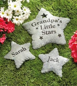"Small 7"" Personalized Stepping Stone"