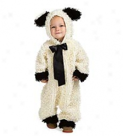 Snuggly Wooly Lamb Jumpsuit Costume Sizing 18 Mks.-2t With Velcro?? Closure