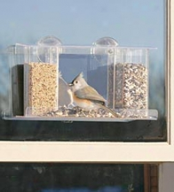 Songbird One-way Mirror Window Bird Feeder