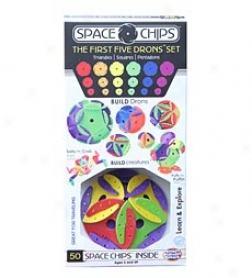 Space Chips The Firsy Five Drons, Set Of 50