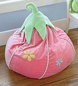 Strawberry Bean Bag Chairwill Ship Late August 2011