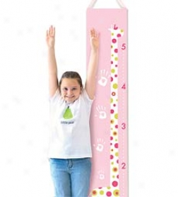 Sturdy Soft Cotton Twill Handprint Growth Chart