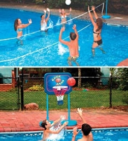 Swimline Cool Jam Basketball/volleyball Combo Pool Game