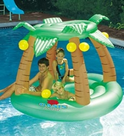 Swimline Oasis Island Inflatable Pool Idler