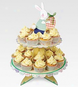 Three-tier Happy Easter Cupcake Stand