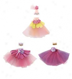 Tulle, Ribbon, Silk Flowers, Beads And Rhinestones Sticky Pixie Costume Add-ons