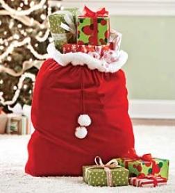 Velvet Santa's Gift Sack With Cord Drawstringbuy 2 Or More At $12.98 Each