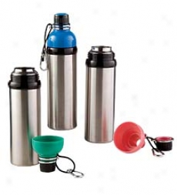Wide-mouthed 24 Oz. Portable Stainless Steel Water Bottle