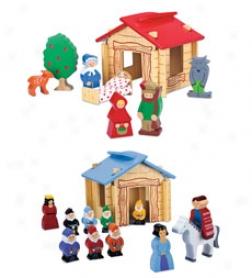 Wood Fairytale Cottage Set