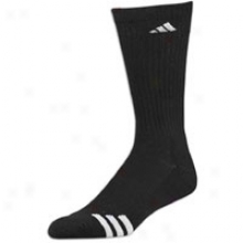 Adidas 3-strip e3 Pack Crew Sock - Mens - Black/white
