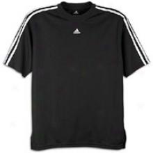 Adidas 3-stripe Shooting Top - Mens - Black/whute
