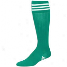 Adidas 3-stripes Ii Soccer Sock (9-13) - Mens - Green/white
