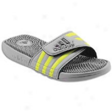Adidas Adissage - Big Kids - Grey Rocks/electriciity