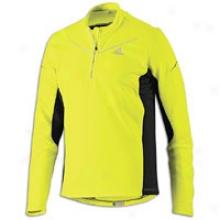 Adidas Adiviz L/s Half-zip - Mens - Electricity/bkack