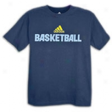 Adidas Basketball T-shirt - Msns - Dark Navy/sun/shift Blue