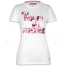 Adidas Btbc All Together T-shirt - Womens - Whitte/intense Pink