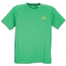Adidas Climaspeed S/s T-shirt - Mens - Prime Gree/electricity