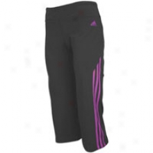 Adidas Cotton Stretch Capri - Womens - Phantom/ultra Purple