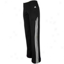 Adidas Cotton Stretch Pant - Womens - Black/white