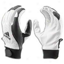 Adidas Dk Lightning Batting Gloves - Mens - White/black