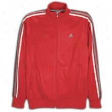 Adidas Essentials 3s Track Jacket - Mens - Red/dark Shale/lead