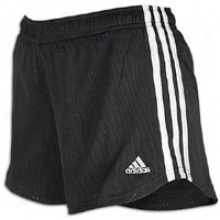 Adidas Everyday Ensnare Striped Short - Womens - Black/white