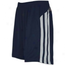 "Adidas Fat Stripes 10"" Short - Mens - Collegiate Navy/sharp Grey/clear Grey"