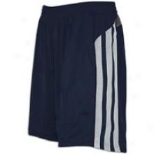 "Adidas Fat Stripes 10"" Short - Mens - Collegiate Navy/sharp Grey/clear Grey"