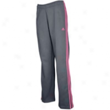 Adidas Fleece Pant - Womens - Sharp Grey/intense Pink