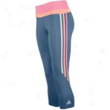 Adidas Grete 3/4 Tight - Womens - Powe Steel/ultra Pop/ultra Bright