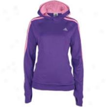 Adidas Iconic 3-stripes Hoodie - Womenx - Power Purple/ultra Pop