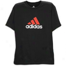 Adiads Logo S/s T-shirt - Mens - Black/red