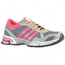 Adidas Marathon 10 - Womens - Lead/fresh Pink/aluminum