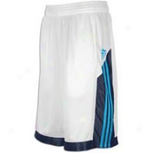 Adidas Midtown Stripe Short - Mens - White/dark Navy/sharp Blue