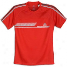 Adidas Modern Classics La S/s T-shirt - Mens - Solid Grey/infrared/shift Grey
