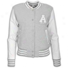 Adidas Originals College Letterman Jacket - Womens - Medium Grey Heather