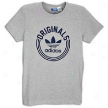 Adidas Originals Colleggiate T-shirt - Mens - Medium Grey Heather