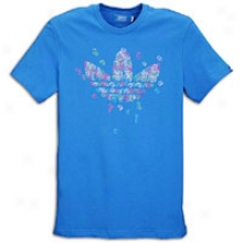 Adidas Originals Geometric Trefoil S/s T-shirt - Mens - Bluebird