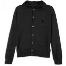 Adidas Originals Hooded Knit Cardigan - Mens - Black