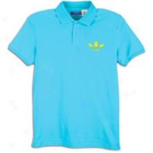 Adidas Originals Perfect Polo - Mens - Super Cyan/sun