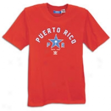 Adidas Originals Puerot Rico Short Sleeve T-shirt - Mens - Light Scarlet/satellite/white