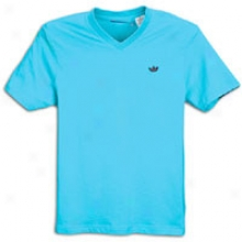 Adidas Originals Real V-neeck S/s T-shirt - Mens - Super Cyan/light Maroon