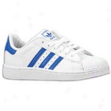 Adidas Originals Superstar 2 - Little Kids - White/bluebird